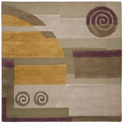 Rodeo Drive Beige Area Rug Rug Size: Square 6