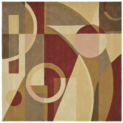 Rodeo Drive Beige/Multi Rug Rug Size: Square 6