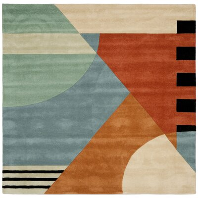 Rodeo Drive Gold Rug Rug Size: Square 8