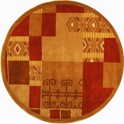 Rodeo Drive Red/Brown Area Rug Rug Size: Round 59
