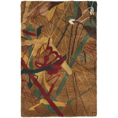 Rodeo Drive Brown Area Rug Rug Size: Rectangle 2' x 3'