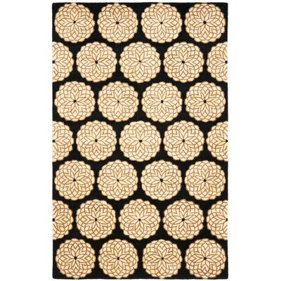 Rodeo Drive Black/Ivory Area Rug Rug Size: Rectangle 76 x 96
