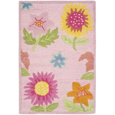 Claro Pink Floral Area Rug Rug Size: 3 x 5