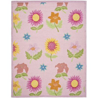 Claro Pink Floral Area Rug Rug Size: Rectangle 8 x 10