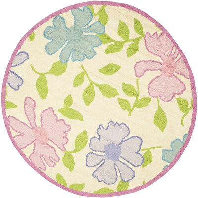 Claro Pink Flower Area Rug Rug Size: Rectangle 4 x 6