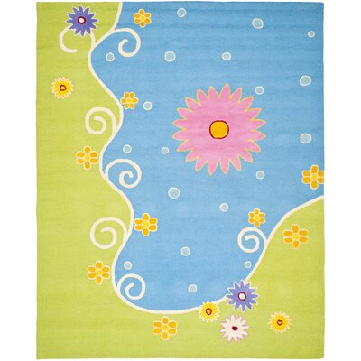 Claro Blue/Green Floral Area Rug Rug Size: Rectangle 2 x 3