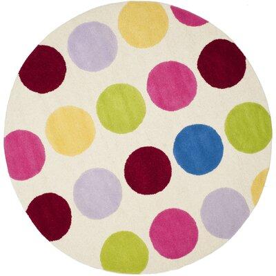 Claro Polka Dot Area Rug Rug Size: Round 6