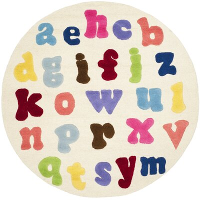 Claro Alphabet Area Rug Rug Size: Rectangle 2 x 3