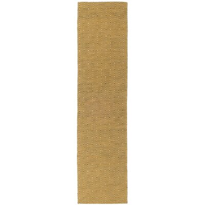 South Hampton Gold Area Rug Rug Size: Runner 2 x 8