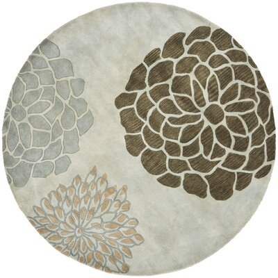 Soho Light Gray Area Rug Rug Size: Round 8