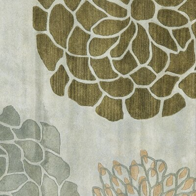 Halle Gray Floral Wool Hand-Tufted Area Rug