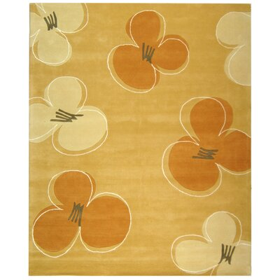 Soho Gold Area Rug Rug Size: 7'6
