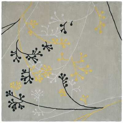 Soho Gray Area Rug Rug Size: Square 6
