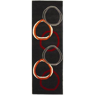 Soho Charcoal Grey Area Rug Rug Size: Runner 26 x 12