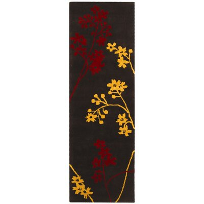 Soho Brown Area Rug Rug Size: Runner 26 x 8