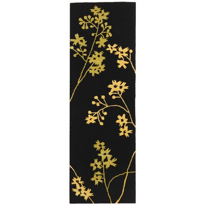 Soho Black Area Rug Rug Size: Runner 26 x 8