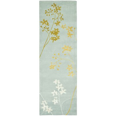 Soho Light Blue Area Rug Rug Size: Runner 26 x 14