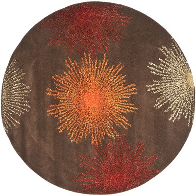 Dash Multi-Colored Area Rug Rug Size: Round 6