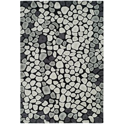 Soho Grey & Ivory Area Rug Rug Size: Rectangle 36 x 56