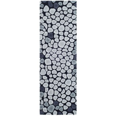 Soho Grey & Ivory Area Rug Rug Size: Runner 2'6