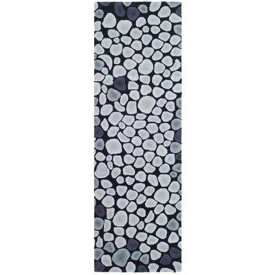 Soho Grey & Ivory Area Rug Rug Size: Runner 26 x 8