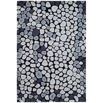 Soho Grey & Ivory Area Rug Rug Size: Rectangle 6 x 9