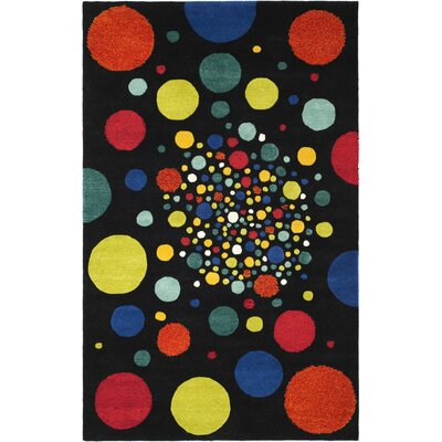 Soho Black Area Rug Rug Size: Rectangle 76 x 96