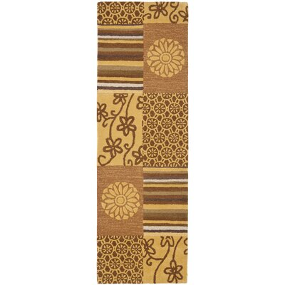 Soho Tan Area Rug Rug Size: Runner 26 x 12