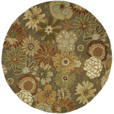 Soho Light Brown Area Rug Rug Size: Round 6'
