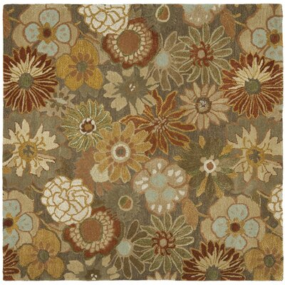 Soho Light Brown Area Rug Rug Size: Square 6