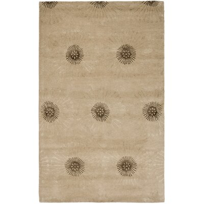 Soho Beige/Brown Area Rug Rug Size: Rectangle 76 x 96