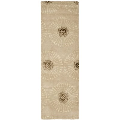 Soho Beige/Brown Area Rug Rug Size: Runner 26 x 8