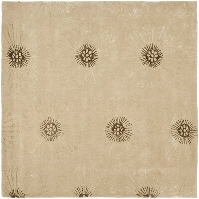 Soho Beige/Brown Area Rug Rug Size: Square 6'