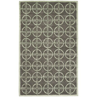 Soho Brown/Gold Rug Rug Size: Rectangle 76 x 96