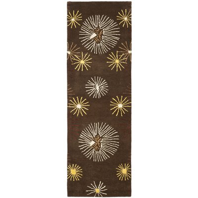 Soho Dark Brown/Beige Rug Rug Size: Runner 2'6