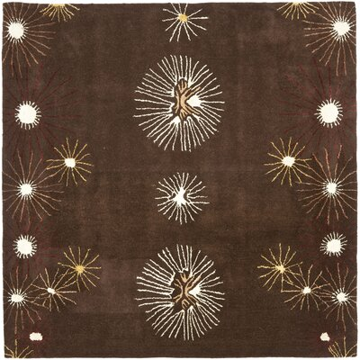 Soho Dark Brown/Beige Rug Rug Size: Square 6