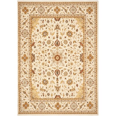 Tuscany Ivory Oriental Rug Rug Size: 53 x 76