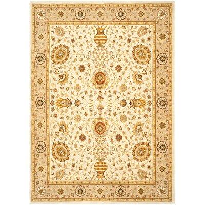 Tuscany Ivory / Camel Oriental Rug Rug Size: 53 x 76