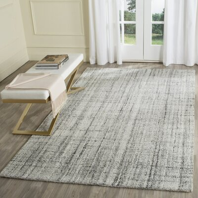 Brendan Hand-Tufted Gray Area Rug Rug Size: 3 x 5