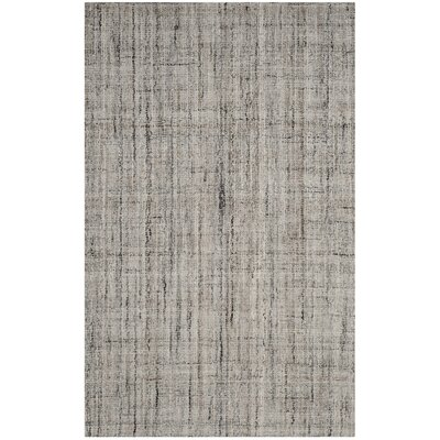 Brendan Hand-Tufted Gray Area Rug Rug Size: Rectangle 5 x 8