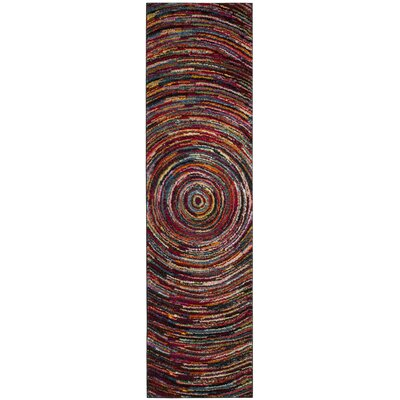 Miley Misc Red Area Rug Rug Size: Runner 22 x 8