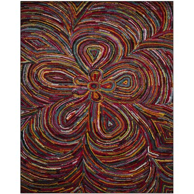 Miley Red Area Rug Rug Size: Rectangle 9 x 12