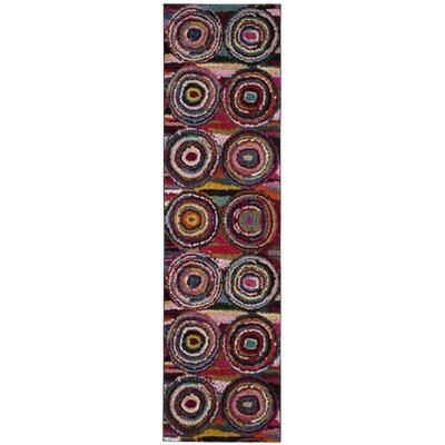 Miley Pink Area Rug Rug Size: Runner 22 x 8