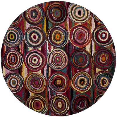 Miley Pink Area Rug Rug Size: Round 67