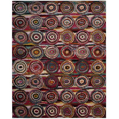 Miley Pink Area Rug Rug Size: 9 x 12
