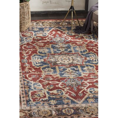 Broomhedge Red/Beige Area Rug Rug Size: 10 x 14