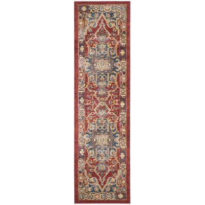 Broomhedge Red/Beige Area Rug Rug Size: Runner 23 x 10