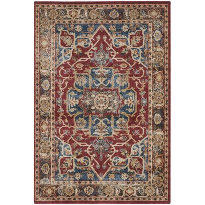 Broomhedge Red/Beige Area Rug Rug Size: Rectangle 10 x 14
