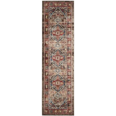 Isanotski Brown Area Rug Rug Size: Runner 23 x 12