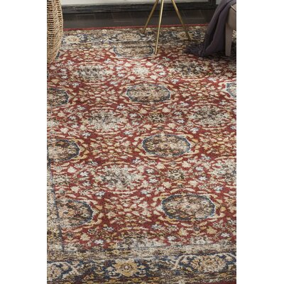 Maynard Red Area Rug Rug Size: Square 67